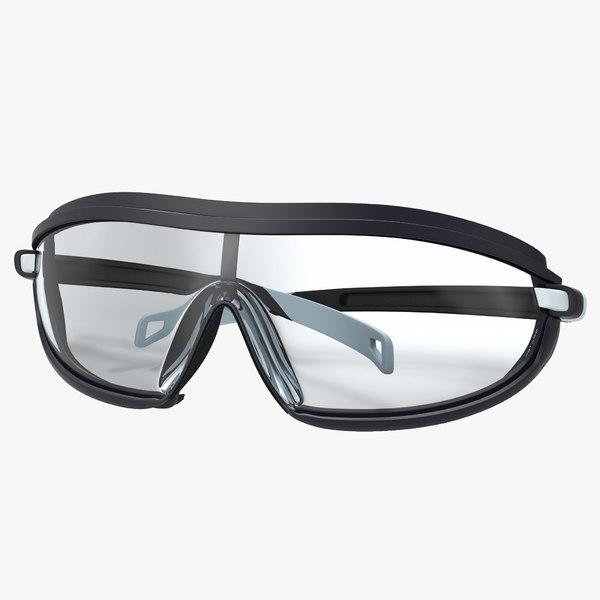 safety glasses folded 2 3d obj