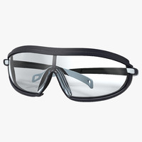 safety glasses folded 2 3d obj