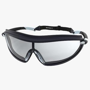safety glasses pyramex modeled 3d obj