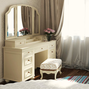 vanity pb teen dressing table 3d model
