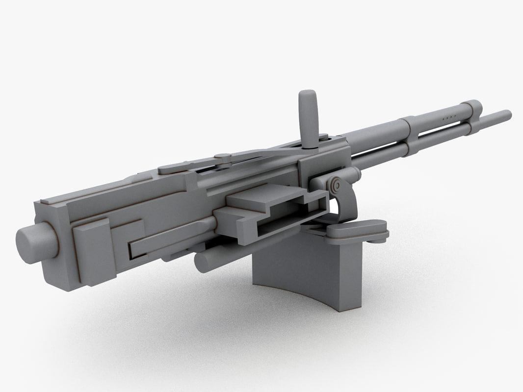 soviet machine gun 3d 3ds