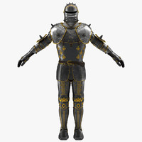 Medieval Suit of Armor 3D Model