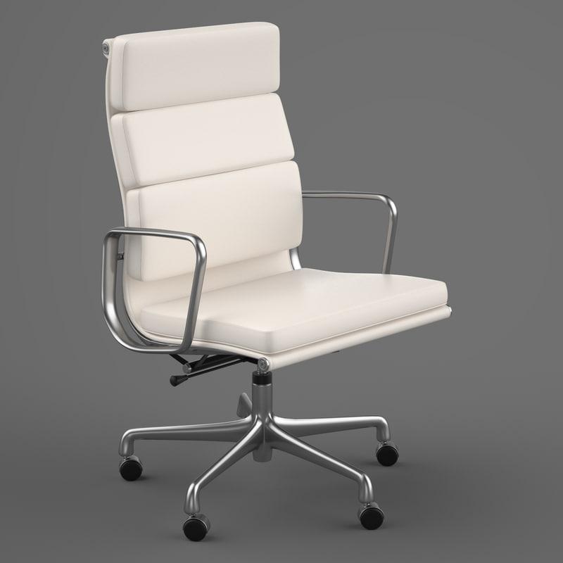 eames soft pad chair design 3ds