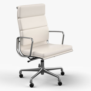 eames soft pad chair design 3ds
