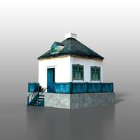 3d model house railway