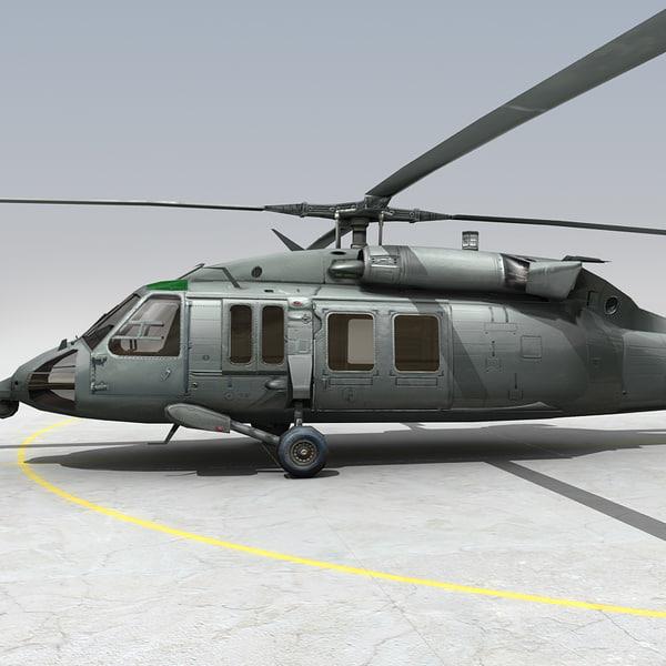 3d uh60 cockpit model