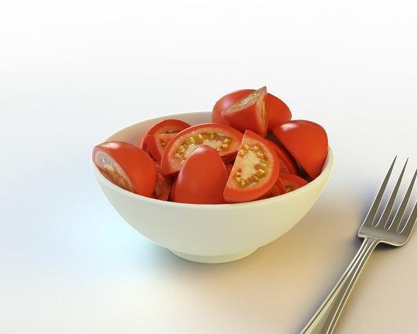 34 sliced tomatos 3d model