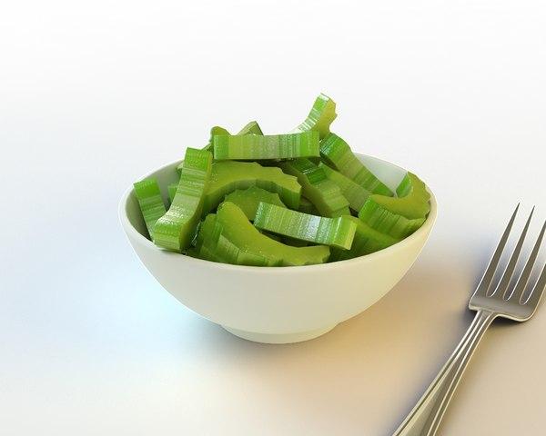35 sliced celery 3d model