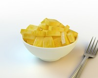 3d model 37 sliced pineapple
