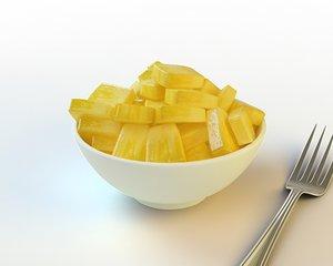 3d model 37 sliced pineapple