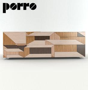 3d inlay cupboard porro model