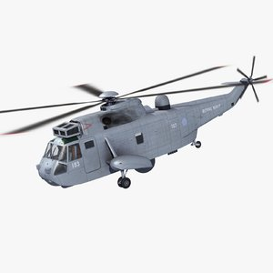 3d max seaking asac mk7 helicopter