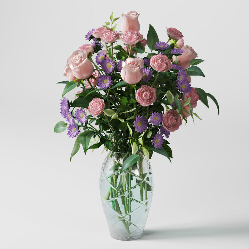 flowers bouquet 3d max