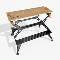 black bench worked 3d model