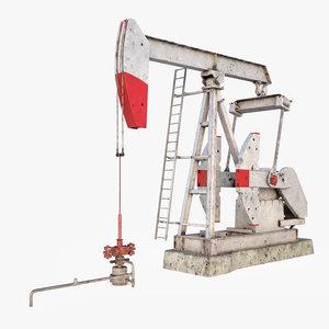 3ds pump jack industrial