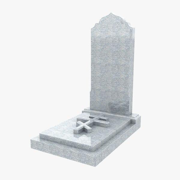 3d model granite headstone