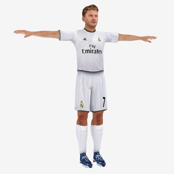 real madrid player 3d model