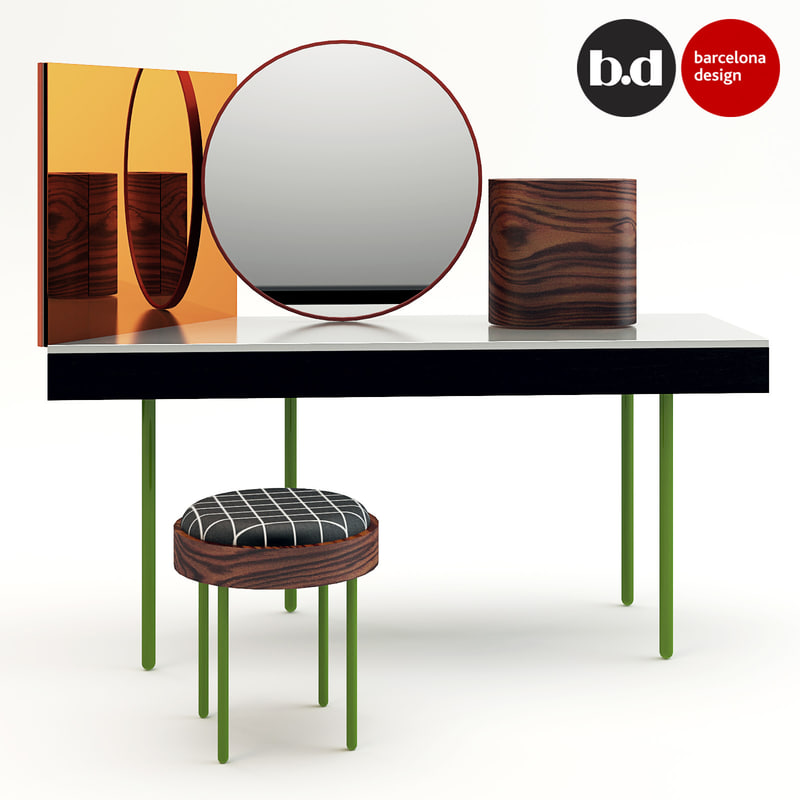 3ds max vanity barcelona dressing table