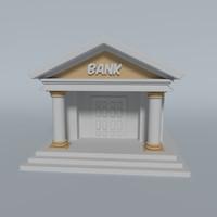 bank 3d obj
