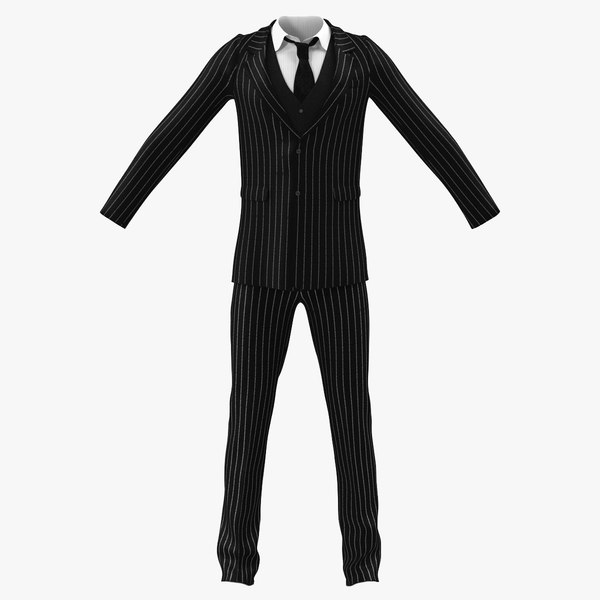 man business suit 3d model