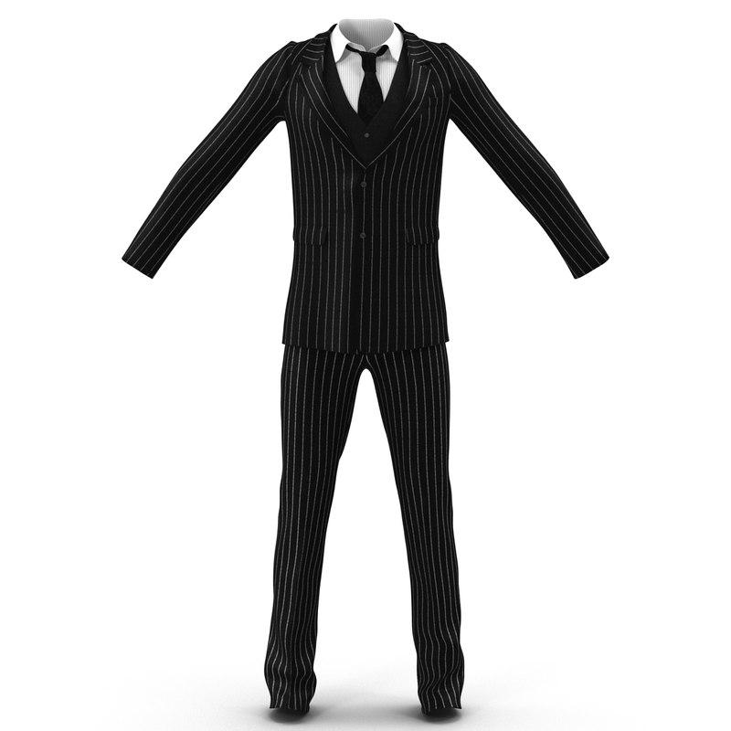man business suit 3d model