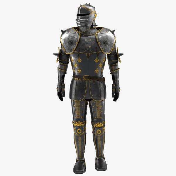 medieval suit armor 2 3d model