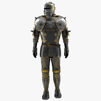 Medieval Suit of Armor 2 3D Model