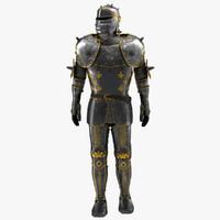 medieval suit armor 2 obj