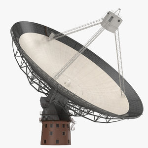 radio telescope modeled 3d c4d