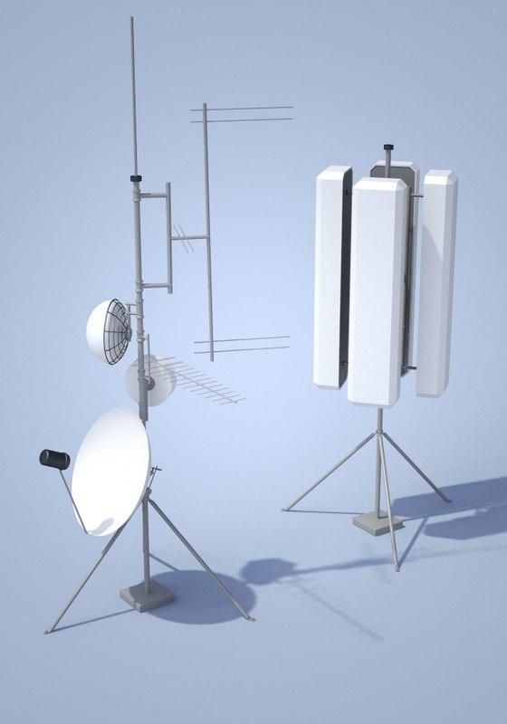 3ds max antennas tv radio