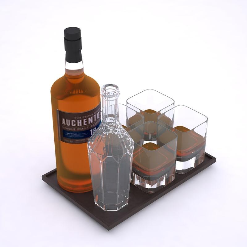 whisky set 3d max
