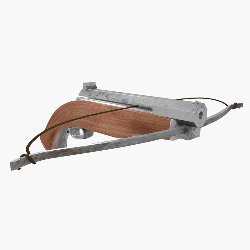 3d crossbow bow cross model