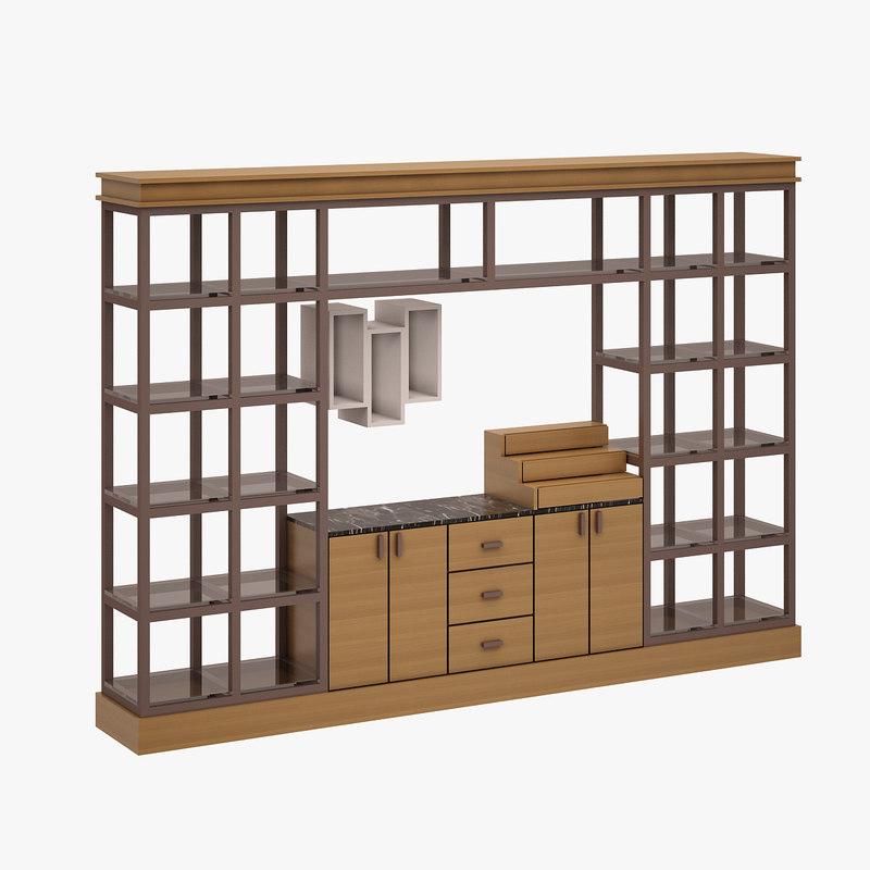 3d cabinet cafe set