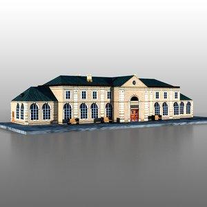 railway station 3d model