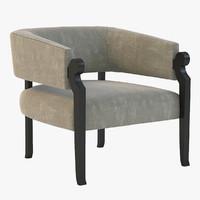 3d model loung chair amir