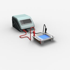 3d apparatus gel electrophoresis model