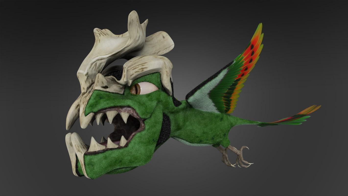 monster bird 3d model