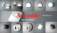 3d model artemide wall lamps 1