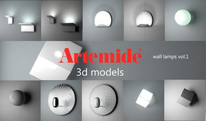3d model artemide wall lamps 1