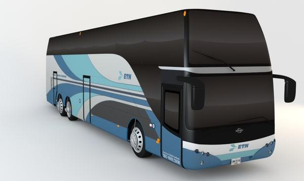 3d model bus double decker