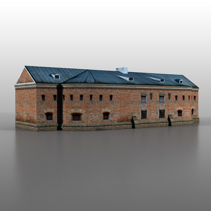 3d model brest fortress
