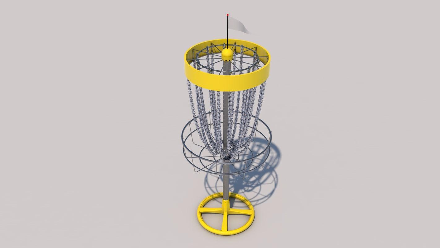 frisbeegolf basket c4d
