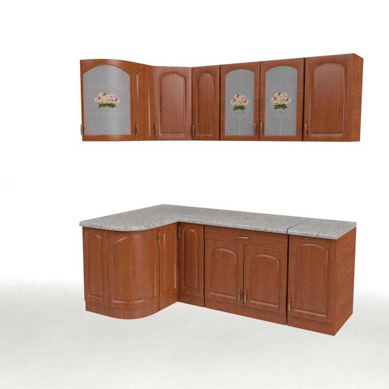 3d model of kitchen