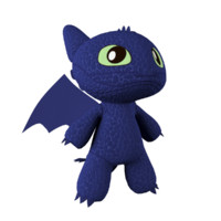 3d toy dragon toothless