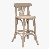 3d model bar stool hancerli