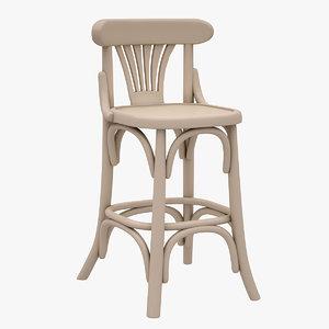 3d model bar stool hancerli