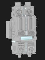 sci-fi doodad 3d model