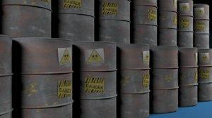 steel barrel 3d max