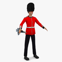 Queen's Guard - Low Poly