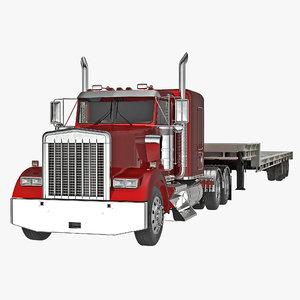 truck single drop tri 3d c4d